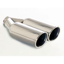Exhaust tip 2x90mm