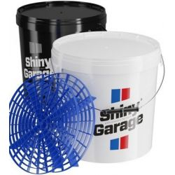 Shiny Garage Bucket Black or White