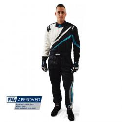 FIA Race Suit RRS EVO Dynamic Black/ Blue