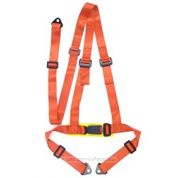"Harness 3-point 2"" (50mm), red"