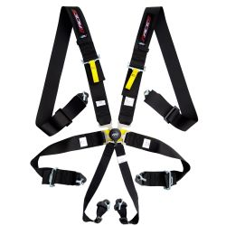 FIA 6 point safety belts RACES, black - 2018