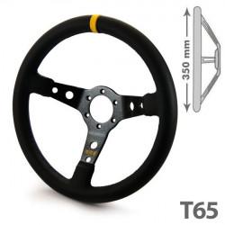 Steering wheel RRS SIMILI, 350mm, ECO leather, 65mm deep dish