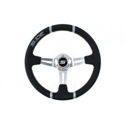 Steering wheel SLIDE 2, 350mm, ECO leather, 90mm deep dish