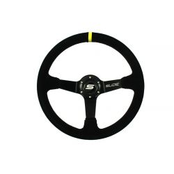 Steering wheel SLIDE, 350mm, suede, 90mm deep dish