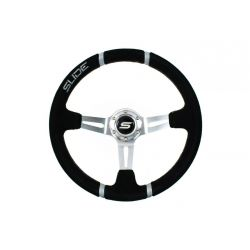 Steering wheel SLIDE 4, 350mm, suede, 90mm deep dish