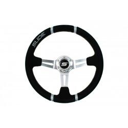 Steering wheel SLIDE 4, 350mm, suede, 90mm deep dish