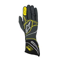 Race gloves Alpinestars Tech 1ZX with FIA (outside stitching) yellow