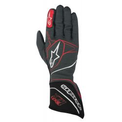 Race gloves Alpinestars Tech 1ZX with FIA (outside stitching) white