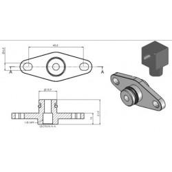 Adapter for fuel rail Turbosmart for Subaru WRX STI 08+