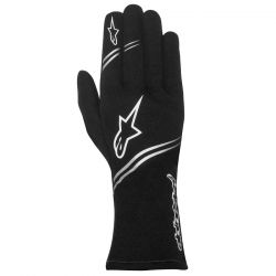 Alpinestars Tech 1 K gloves without FIA approval - black-white-yellow