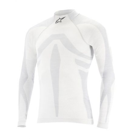 Underwears Alpinestars ZX Evo with FIA approval Long Sleeve Top - white | races-shop.com