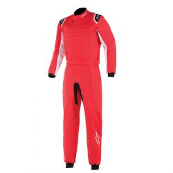 FIA Race suit ALPINESTARS KMX-9 V2 child's Red/Black