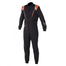 FIA Race suit ALPINESTARS Super KMX-1 Black/Orange