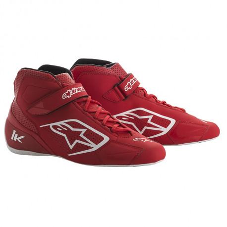 Shoes Races Shoes ALPINESTARS Tech-1 K - Black/White/Red | races-shop.com