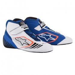 Races Shoes ALPINESTARS Tech-1 KX - Blue/White/Orange