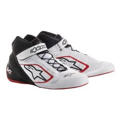 Races Shoes ALPINESTARS Tech-1 KZ - White/Black/Red