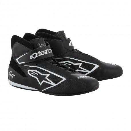 Shoes Races Shoes ALPINESTARS FIA Tech 1 T - Black/White | races-shop.com