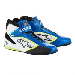Races Shoes ALPINESTARS FIA Tech 1 T - Blue/White/Yellow