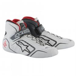 Races Shoes ALPINESTARS FIA Tech 1-Z - White/Gray/Red