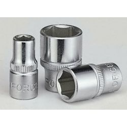 "FORCE 1/4"" 6PT. SOCKET (METRIC) 13mm"