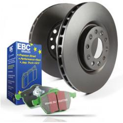 Front kit EBC PD01KF288 - Discs Premium OE + brake pads Greenstuff
