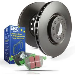EBC FRONT GD DISCS GREENSTUFF PADS 240mm FOR FORD KA 1.2 2010