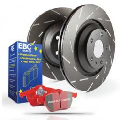 Front kit EBC PD07KF037 - Discs Ultimax Grooved + brake pads Redstuff Ceramic