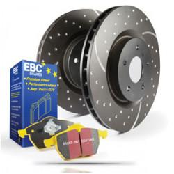 Front kit EBC PD13KF045 - Discs Turbo Grooved + brake pads Yellowstuff