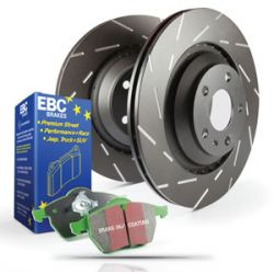 Rear kit EBC PD06KR073 - Discs Ultimax Grooved + brake pads Greenstuff