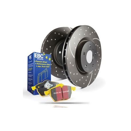# PD13KR053 EBC REAR Brake Kit Yellowstuff Pads /& Grooved Discs