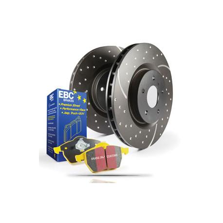 PD13KR294 EBC REAR Brake Kit Yellowstuff Pads /& Grooved Discs