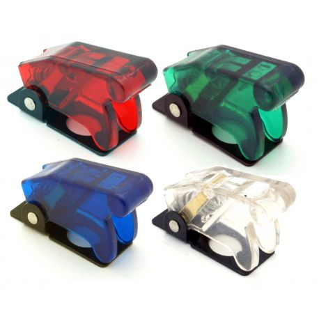 Start buttons and switches Pop-up switch cover - Transparent - different colors | races-shop.com