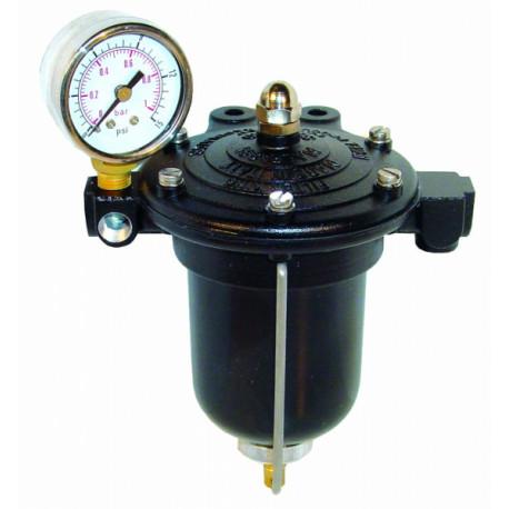 Fuel filters Fuel pressure regulator KING for carburetors with filter and clock | races-shop.com