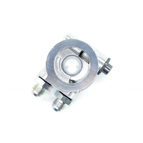 Oil filter adapters Oil filter adapter input/output with thermostat AN10 | races-shop.com
