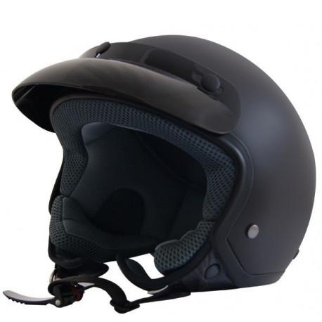 Open face helmets Helmet JET, black | races-shop.com