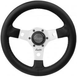 Steering wheel Luisi Nibbio, silver, 320mm, polyurethane, flat