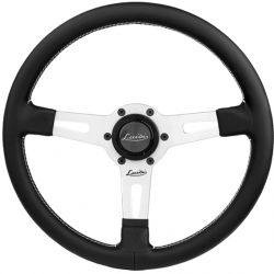 Steering wheel Luisi Sharav, 340mm, leather, flat