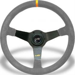 Steering wheel Luisi Mirage Corsa, 350mm, suede, 75mm , deep dish