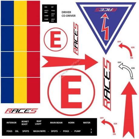 Odpojovače batérie a príslušenstvo Rally stickers   races-shop.com