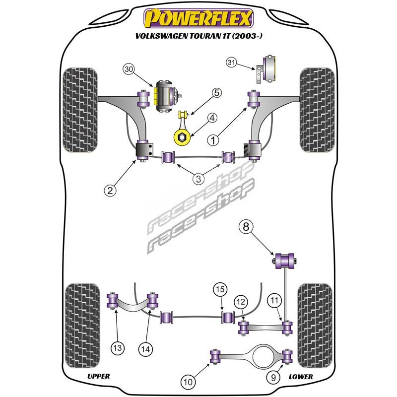 Powerflex Upper Engine Mount Insert Volkswagen Touran