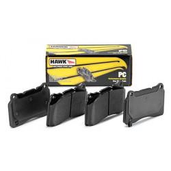Rear brake pads Hawk HB458Z.642, Street performance, min-max 37°C-350°C