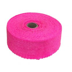 Exhaust insulating wrap,pink, 50mm x 10m x 1mm