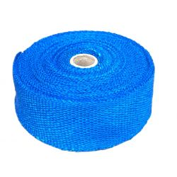 Exhaust insulating wrap, blue, 50mm x 10m x 1mm