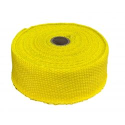 Exhaust insulating wrap, yellow, 50mm x 10m x 1mm