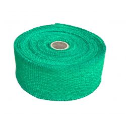 Exhaust insulating wrap, green, 50mm x 10m x 1mm