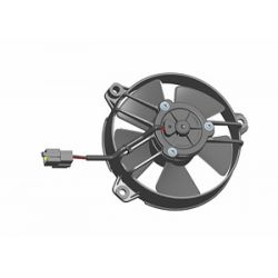 Universal electric fan SPAL 130mm - suction, 24V