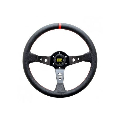 steering wheels 3 spokes steering wheel OMP Corsica, 350mm Leather, 95mm | races-shop.com