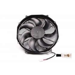 Universal electric fan SPAL 385mm - suction, 24V
