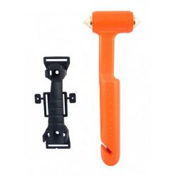 Safety hammer with seatblet cutter