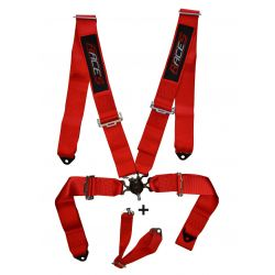 """5 point safety belts RACES 3"""" (76mm), red"""